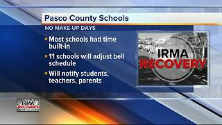 Pasco County Schools will not have make-up days after Hurricane Irma - Video