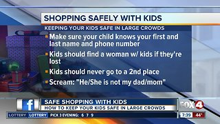 Shopping Safely with your children in large crowds