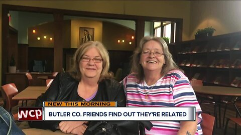 Longtime friends find out they're related