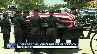 Funeral of fallen Fort Myers Police Officer, Adam Jobbers-Miller