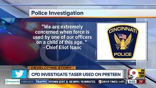 Cincinnati police chief 'extremely concerned' by officer's use of Taser on 11-year-old girl - Video