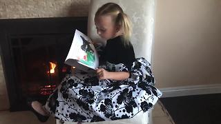 Little girl promotes her new children's book