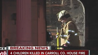 4 children killed, 3 adults hospitalized in Carroll County house fire