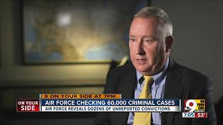 Air Force checking 60,000 criminal cases - Video
