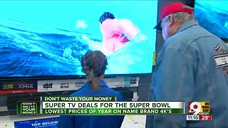 Super TV deals just in time for Super Bowl - Video