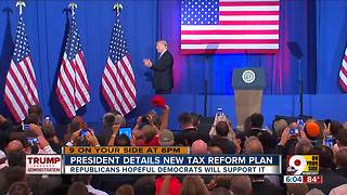 President Trump debuts tax reform plan - Video