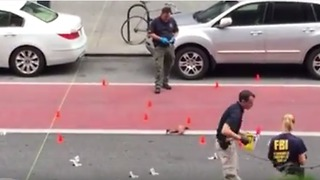 Authorities Examine Scene of New York City Explosion - Video