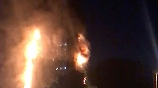 'Screams Heard' as London Tower Block Burns - Video