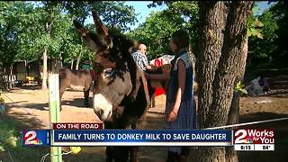 Donkey milk to help little girl - Video