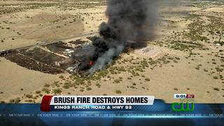 Brush fire in Cochise County destroys multiple structures