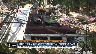 Illegal dumping suspect charged with felony - Video