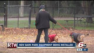 New bark park equipment installed in Broad Ripple - Video