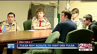 Boy Scouts from Tulsa get exclusive look at USS Tulsa - Video