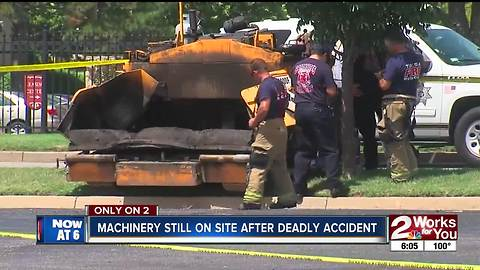 Machinery still on site of deadly accident