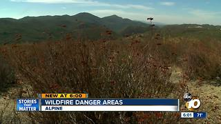 Firefighters worried about wildfire danger areas