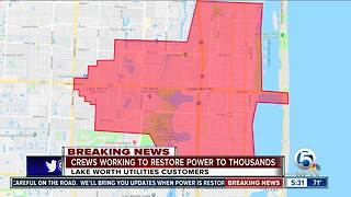 25,000 Lake Worth customers impacted by power outages - Video