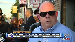 Governor Larry Hogan discusses plan for city crime