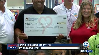 Kids Fitness Festival begins - Video