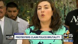 Protesters claim police brutality for use of tear gas - Video