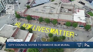 City council votes to remove BLM mural