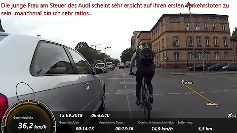 Cyclists document reckless drivers en route to work