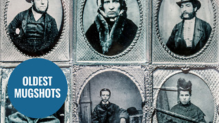 World's oldest police mugshots have been revealed - Video