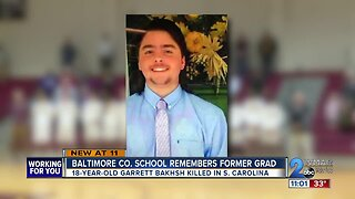 Baltimore County school remembers teen killed in South Carolina shooting