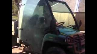 Tractor Driving Dog Doesn't Take Any Breaks - Video