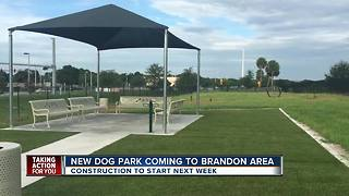 Dog park coming to Brandon area, construction to begin next week - Video