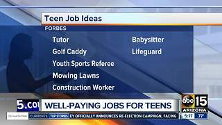 Fewer teens working summer jobs - Video