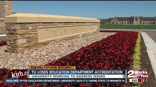 Tulsa University Education Departments loses accredidation - Video