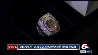 Crispus Attucks gets their long-awaited rings for first state championship since 1959 - Video