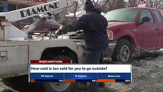 Towing companies working overtime in frigid weather - Video