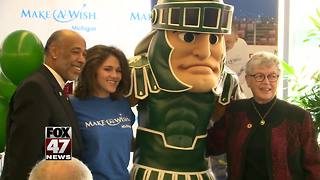 Make-A-Wish Michigan helps with one teen's tuition bill - Video