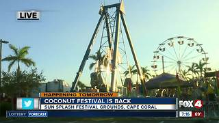 Coconut Festival returns to Cape Coral - Video