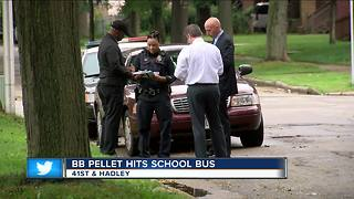 Milwaukee Police: 8-year-old girl injured after BB pellet strikes bus window