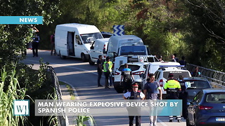 Man Wearing Explosive Device Shot By Spanish Police - Video