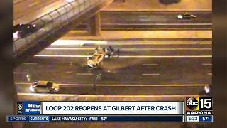 DPS: Deadly crash closes Loop 202 EB at Gilbert Road - Video
