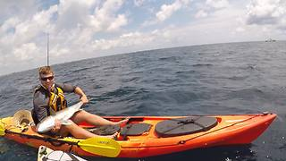 Kayak fishing sets world record for largest fish ever caught - Video