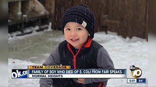 Family mourns boy who died of E. Coli