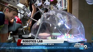 Students learn how to use medical robots