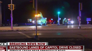 2 injured in Capitol Dr. accident - Video