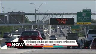 Hillsborough Co. has 4th most expensive car insurance - Video