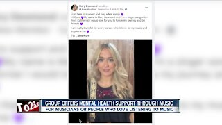 Group offers mental health support virtually through music