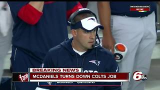 Josh McDaniels changes his mind, will not take job as Colts head coach - Video