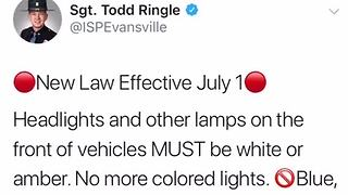 New state law about colored headlights goes into effect July 1