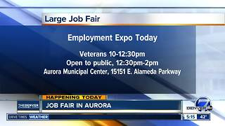 Job expo in Aurora today will help veterans and others - Video