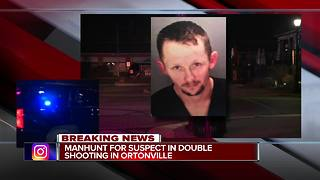 Manhunt for suspect in double shooting in Ortonville - Video