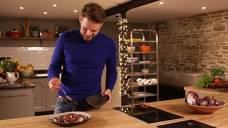 John Whaite's 5-ingredient roasted radicchio and figs with Stilton