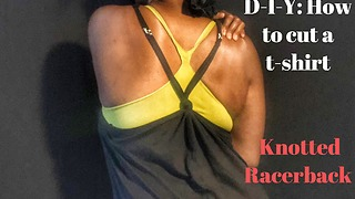How to cut a t-shirt into a knotted racerback